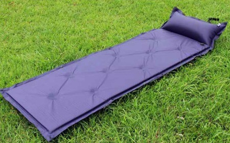 Blue sleeping pad for camping